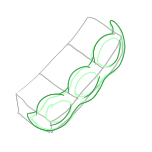 枝豆のイラストのかわいい書き方は 簡単に描くなら イラストの簡単な