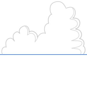 入道雲 書き方