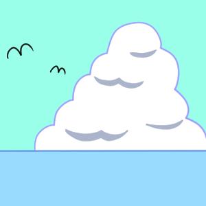 入道雲 イラスト 簡単