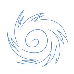 台風 書き方