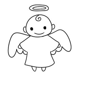 天使 書き方