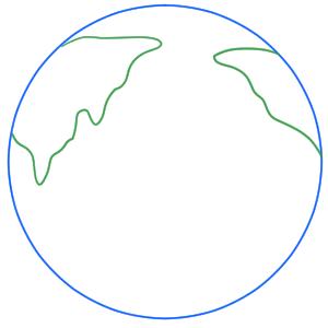 地球 書き方