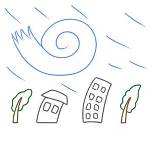 台風 イラスト 簡単