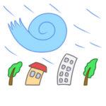 台風の書き方は イラストを簡単に描くポイントは?
