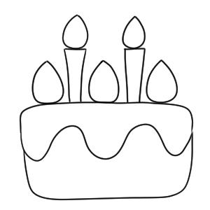 ケーキ 書き方