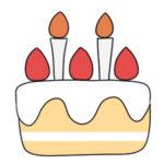 ケーキの書き方 イラストを簡単に描くポイントは?
