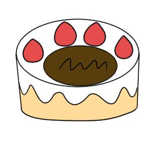ケーキ イラスト 簡単