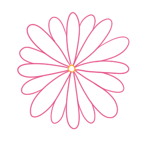 菊 イラスト 簡単