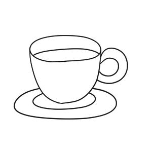 コーヒー イラスト 簡単