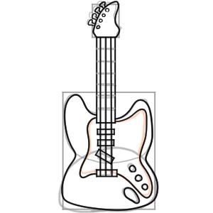 ギター イラスト 簡単