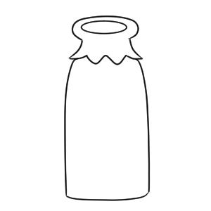 牛乳 書き方