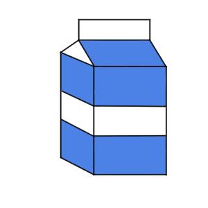 牛乳 イラスト 簡単