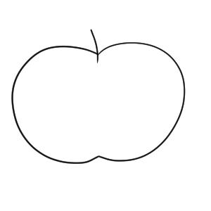 りんご 書き方