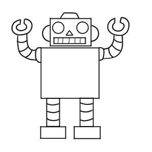 ロボット イラスト 簡単