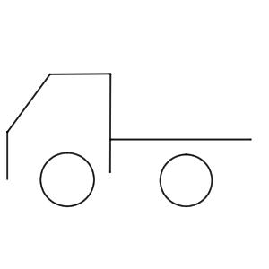トラック イラスト 簡単