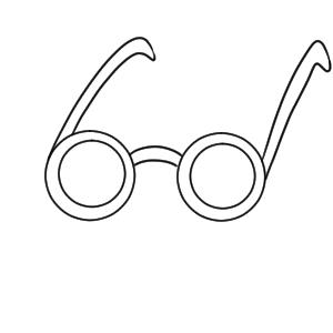 メガネ イラスト 簡単