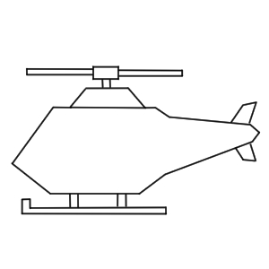 ヘリコプター 書き方