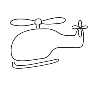 ヘリコプター イラスト 簡単