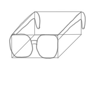 メガネ 書き方