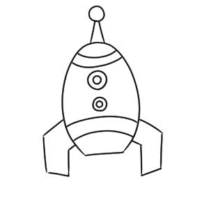 ロケット イラスト 簡単