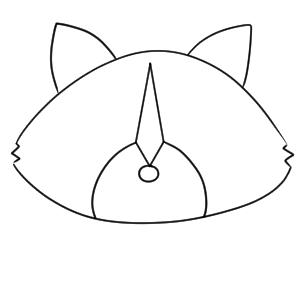 アライグマ イラスト 簡単