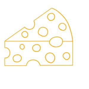 チーズ 書き方
