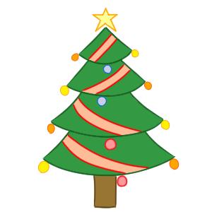 クリスマスツリー 書き方