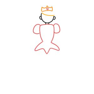 姫 イラスト 簡単