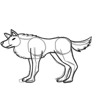 狼 イラスト 簡単