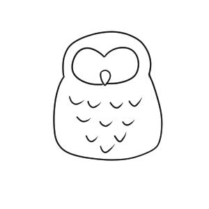 フクロウ 書き方
