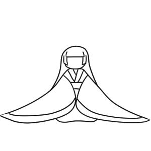 姫 イラスト 和風