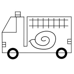 消防車 イラスト 簡単