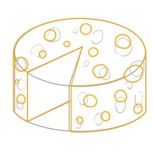 チーズ イラスト 簡単