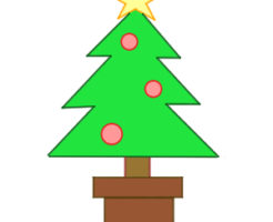クリスマス ツリー イラスト 簡単