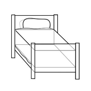 ベッド イラスト 描き方