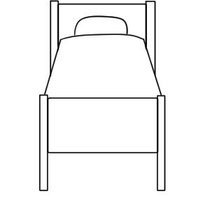 ベッド イラスト 簡単