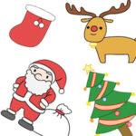 クリスマスのイラストを簡単に 手書きでの書き方は?