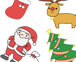 クリスマス イラスト 簡単