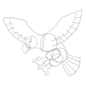 鷲 イラスト 簡単
