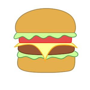 ハンバーガー イラスト 手書き