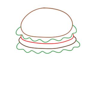 ハンバーガー イラスト 書き方