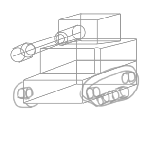 戦車 イラスト 書き方