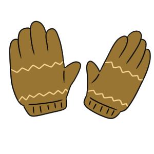 手袋 イラスト 簡単