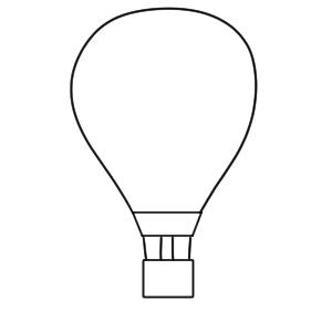 気球 イラスト 手書き