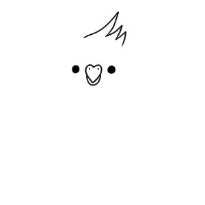 インコ イラスト 手書き