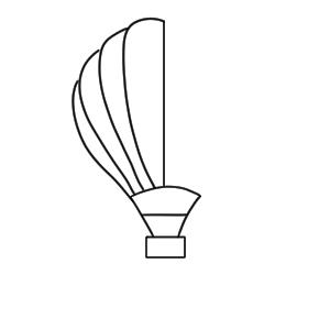 気球 イラスト 簡単