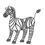 シマウマのイラストの簡単な書き方 手書きで描くなら?