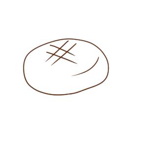 ハンバーグ イラスト 簡単
