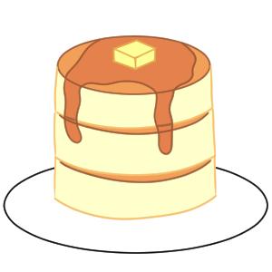 ホットケーキ イラスト 書き方