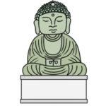 鎌倉 大仏のイラストの簡単な書き方 手書きで描くなら?